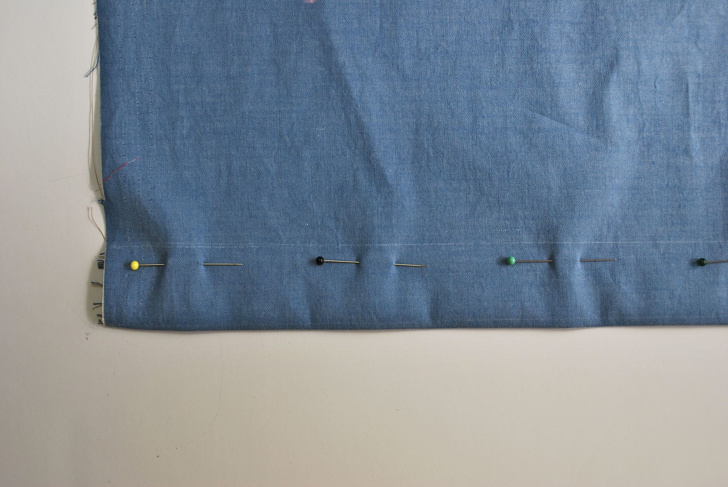 The right side of the skirt (left placket).