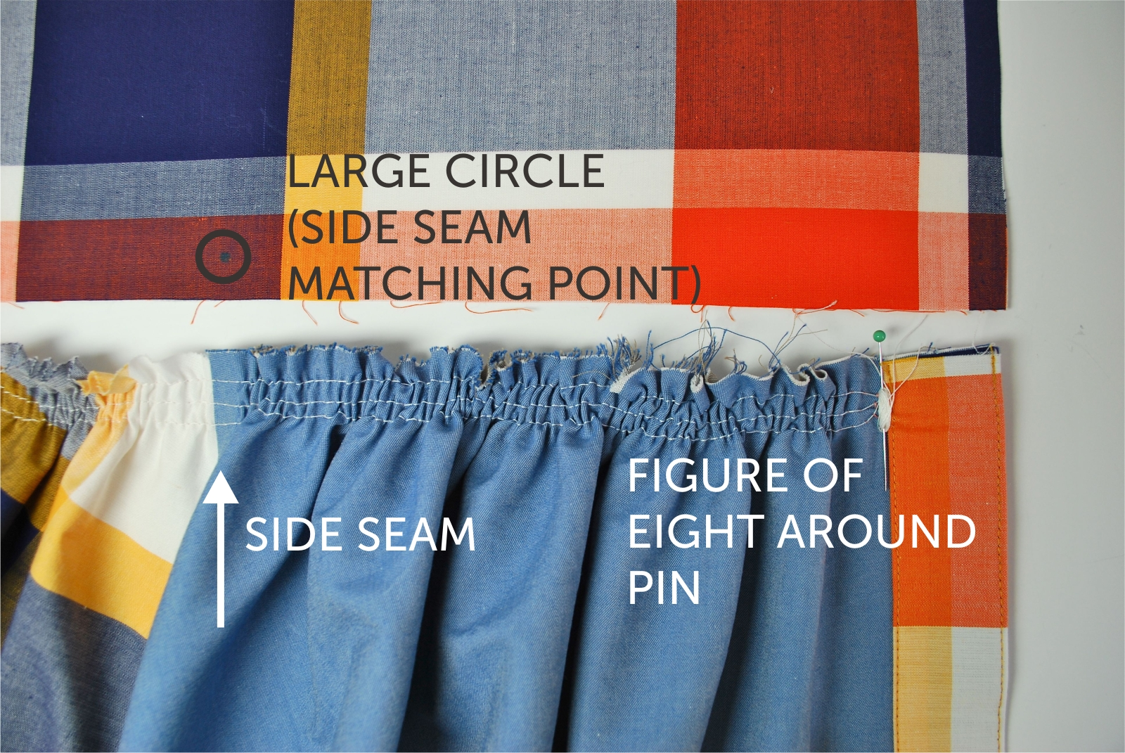 The above picture shows the right hand side of the skirt.