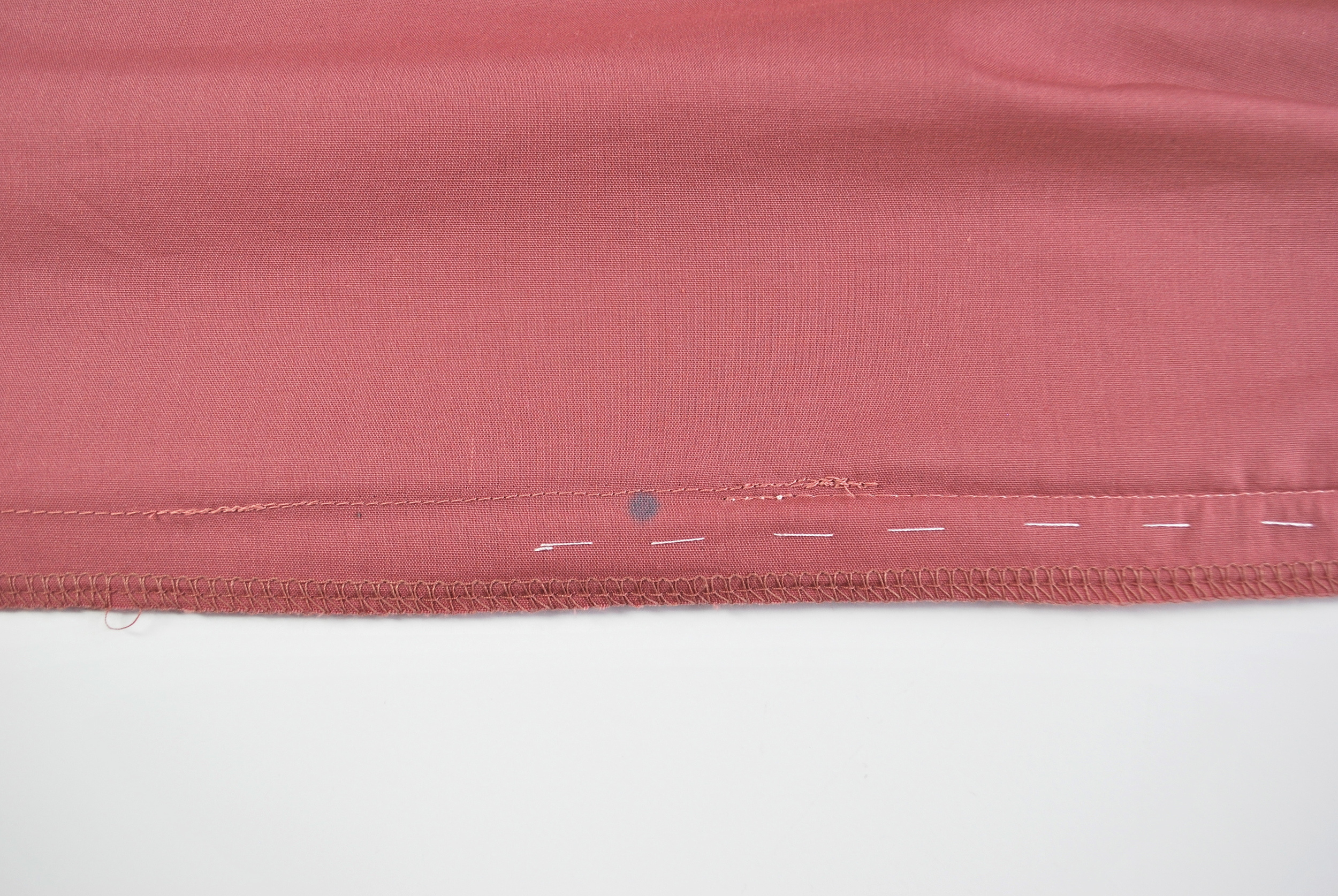 STEP 11c - The back seam seam stitch overlaps with the zipper stitch.