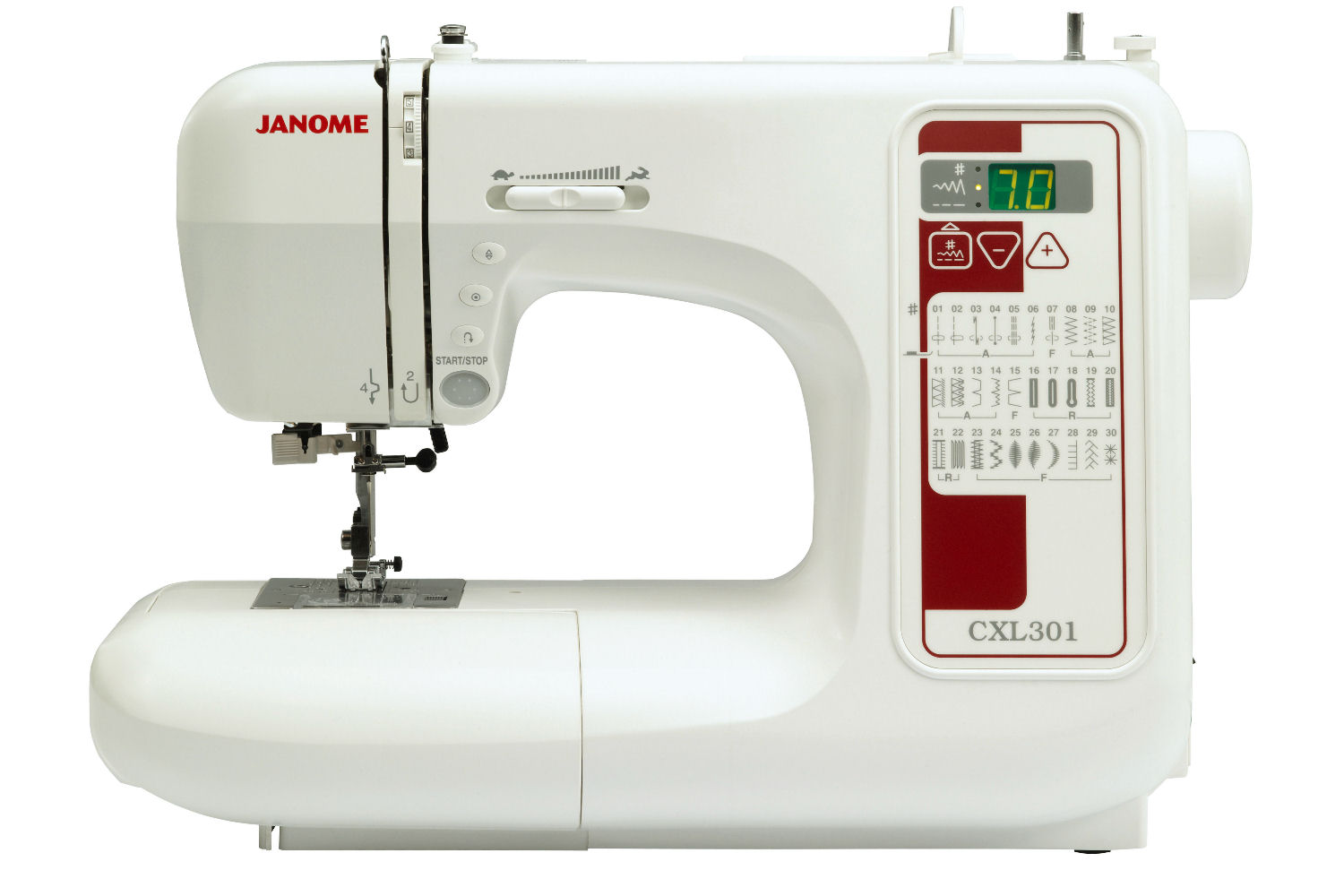 The Janome CXL301 - We have 10 of these in our studio for student use.