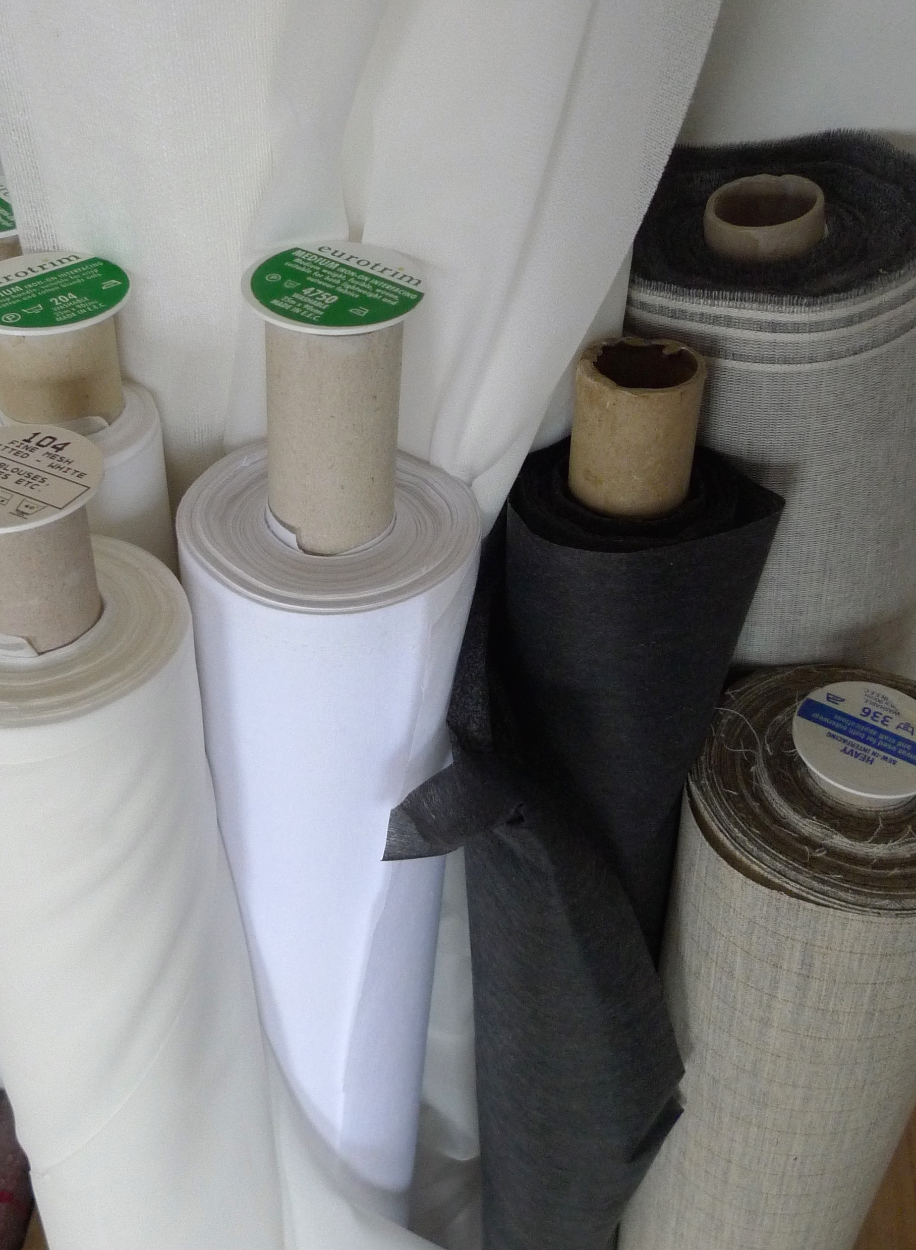 Our selection of interfacing at The Sttichery