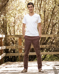 JEDEDIAH PANTS  Thread Theory  Chino-style trousers updated with a slim, casual fit, back yoke and stylish slash front pockets. These trousers include length options -  knee length shorts with rolled cuff and full length trousers. They will wear well in a denim, corduroy or twill with the extra durability of flat fell seams. They could also be made in a lighter cotton or linen when sewn as summer shorts.