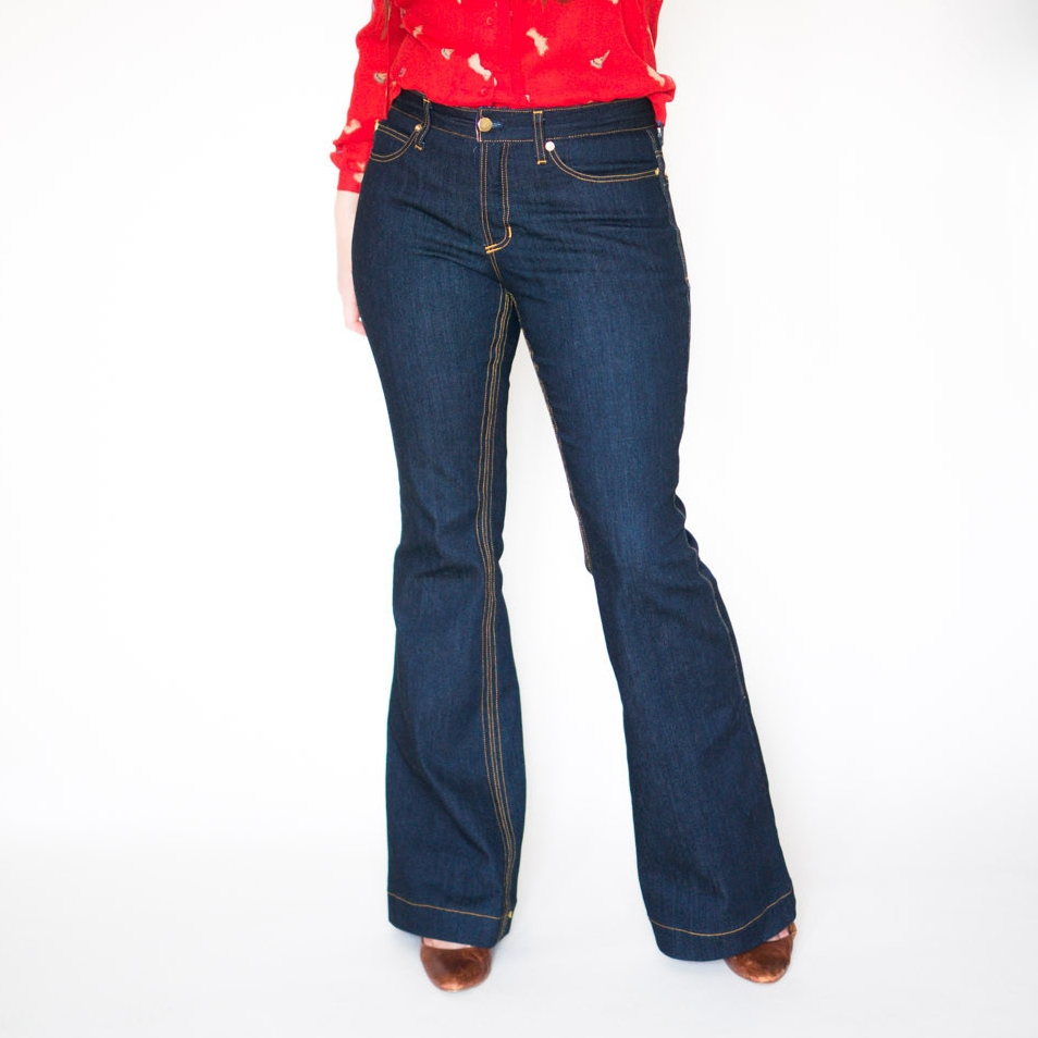 OPTION 2  Ginger Flared Jeans  by Closet Case Files (women's)