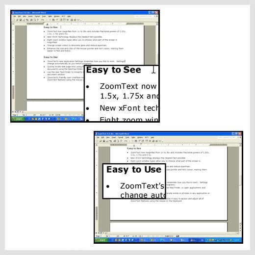 Zoomtext Magnifier & Reader software