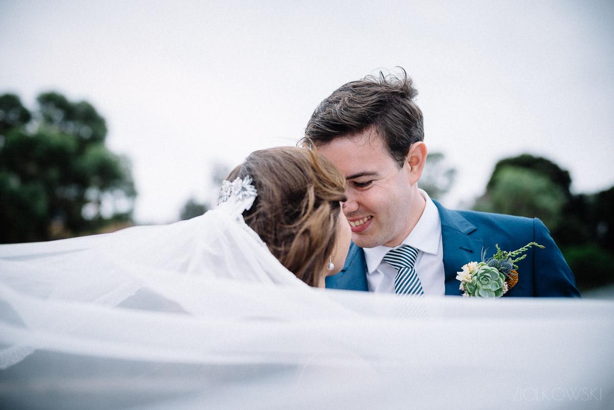 Leila and Conor/ Fremantle wedding with a splash/dash of rain.