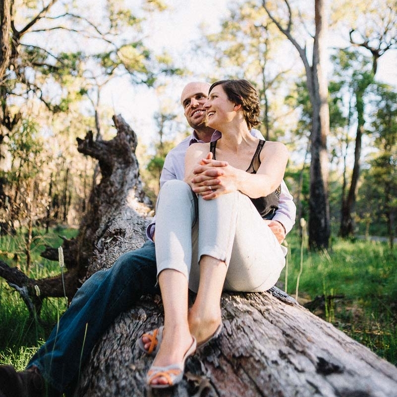 Pre- wedding session / Gemma and Alan / Perth Hills