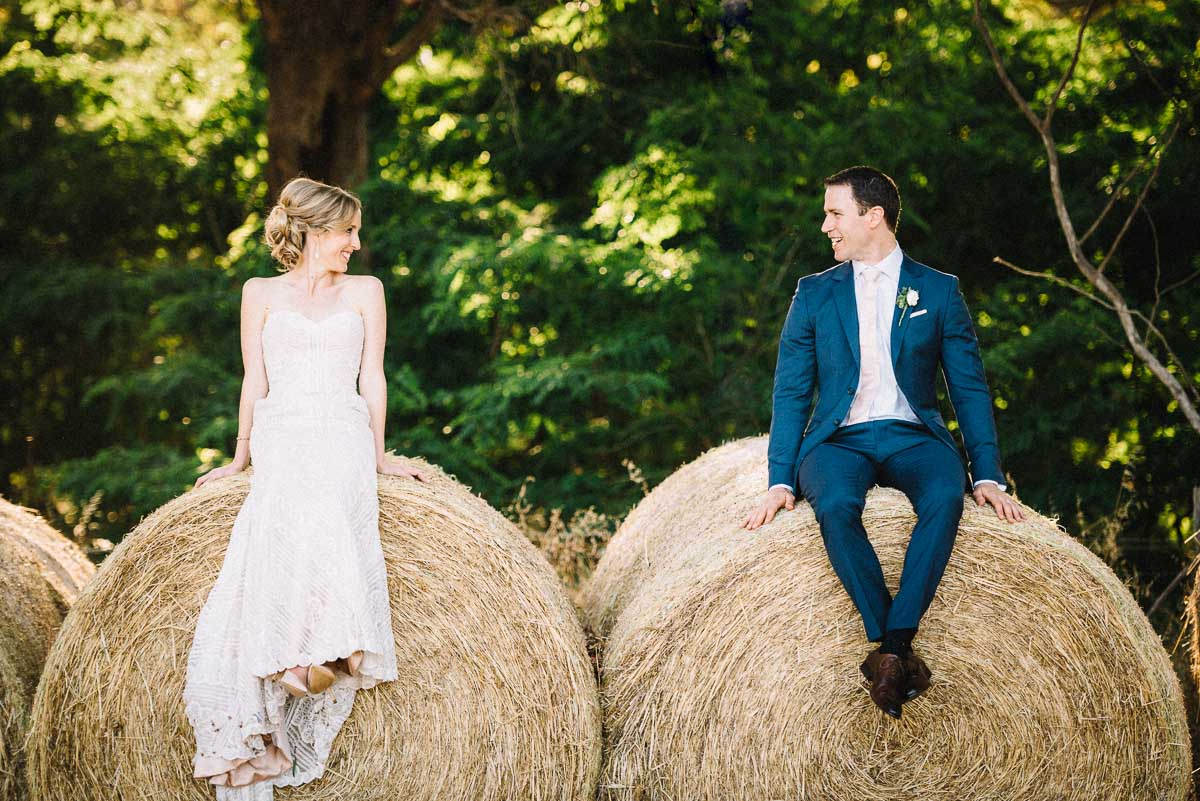 Hay and mighty / James and Jenna / Cullen Wines Wedding