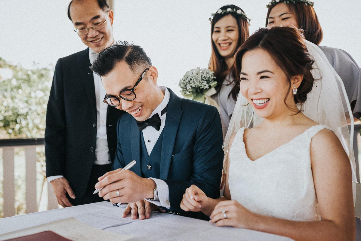 All the way from Hong Kong to get married in Perth