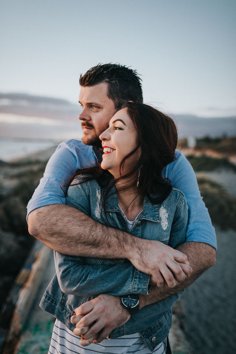 Beach engagement session in Fremantle