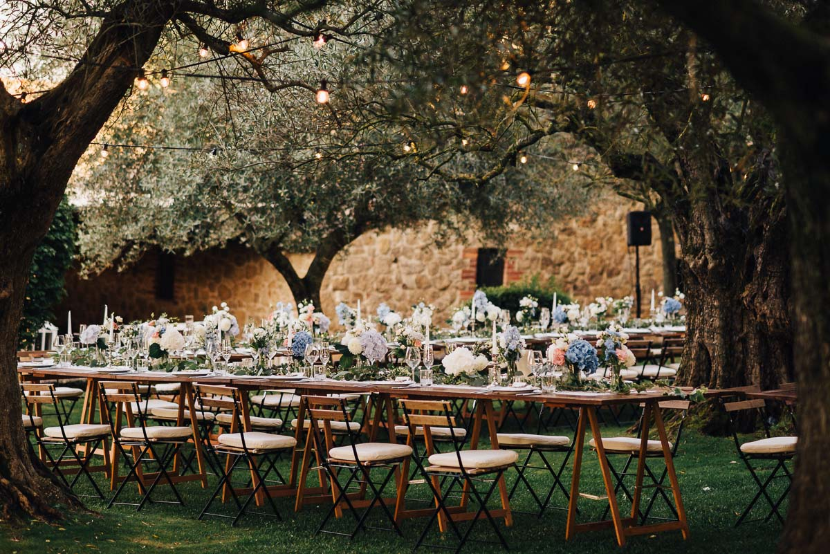 Wedding reception in Tuscanny venue Terre Di Nano