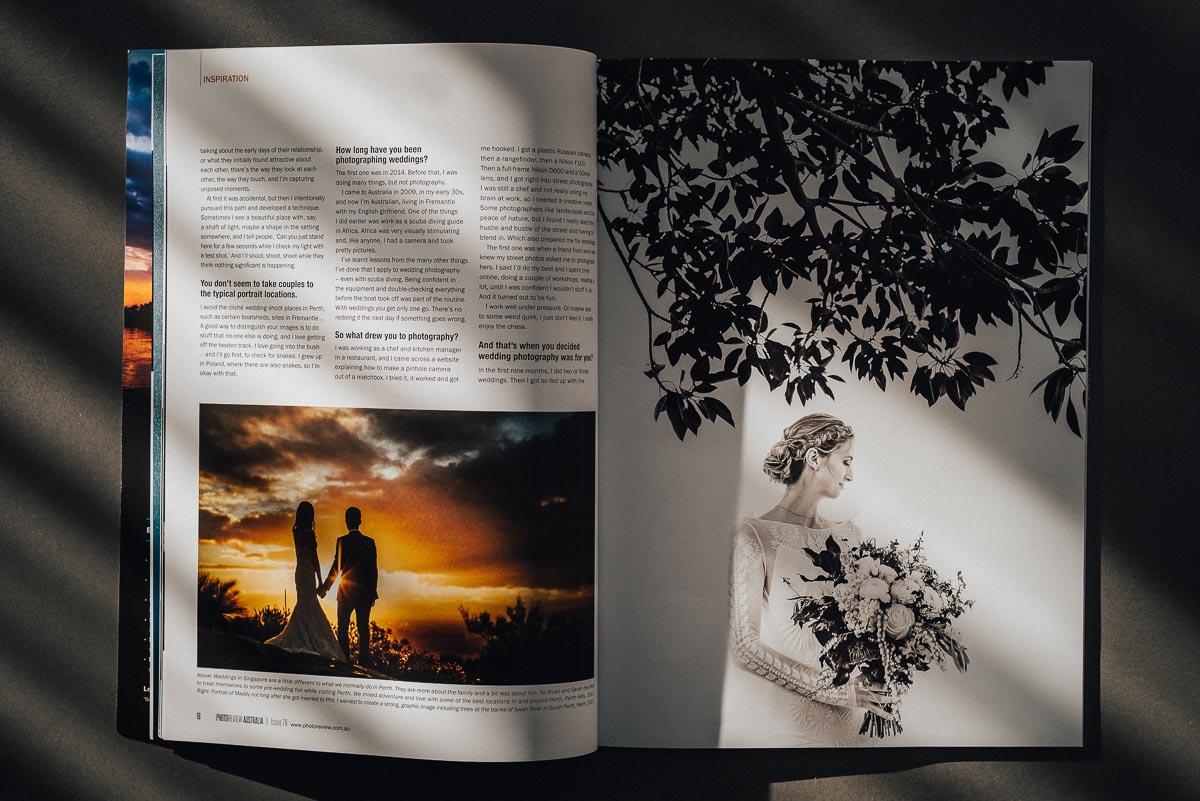 Published Perth Wedding Photographer