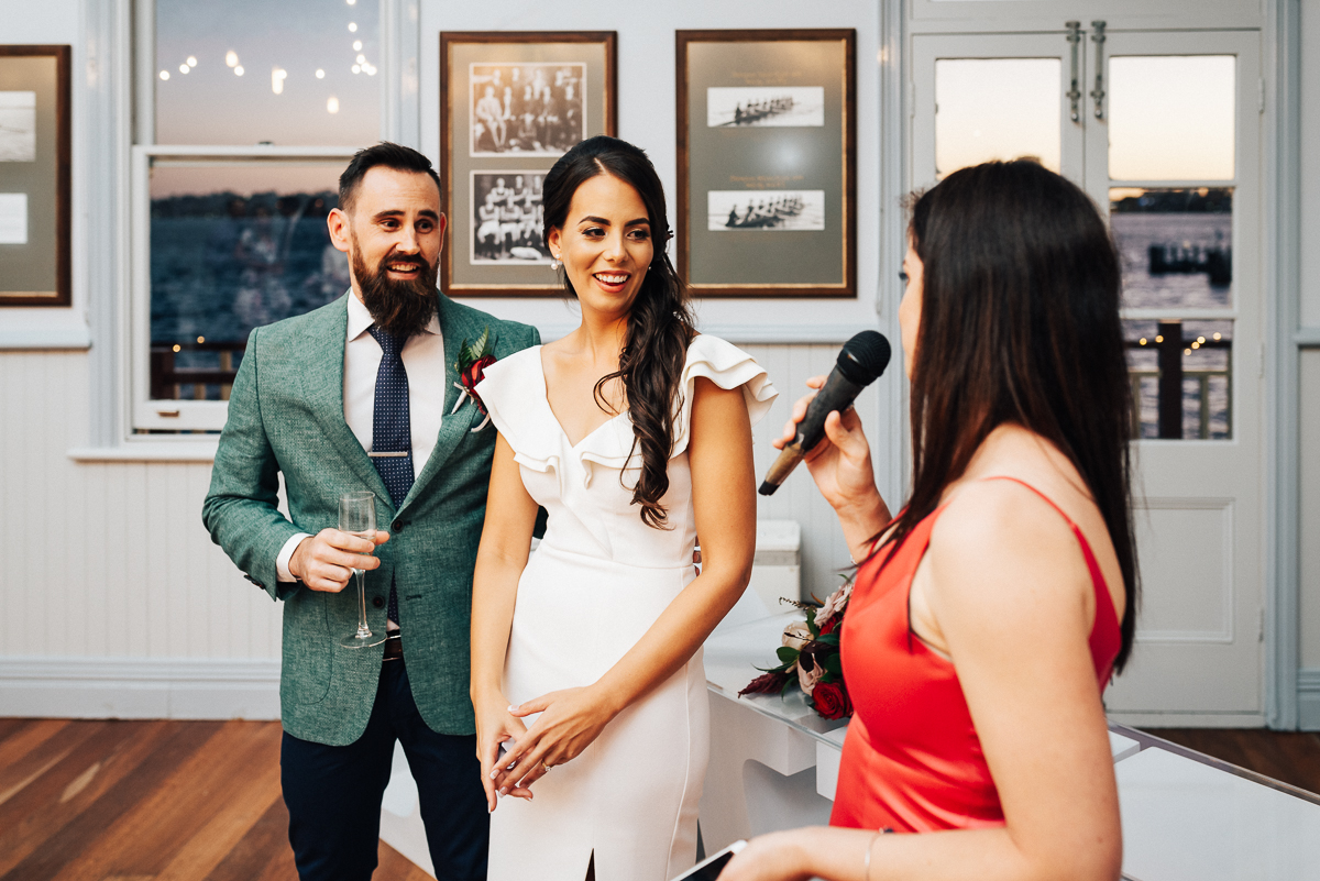 Quirky WA Rowing Club Wedding