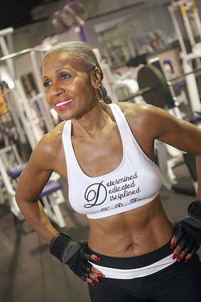 Ernestine Shepherd, the oldest female bodybuilder in the world, age 76. Image:  http://ernestineshepherd.net/