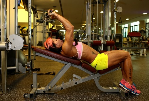 Singapore's own Agnes Lee, still fierce at age 60. Image: http://sg.sports.yahoo.com