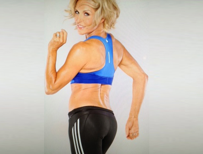 "Tosca Reno, weightlifter, publisher and creator of the ""Eat Clean"" series, who is age 54.  http://www.toscareno.com/"