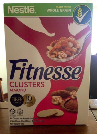 Here's a box of cereal I received in a race pack bag that I collected this weekend: Fitnesse Clusters! Sounds nutritious, right? Well, consider this for starters: 100 grams of this cereal contains 22.1 grams of SUGAR. The MAXIMUM recommended daily allowance of sugar for a non-diabetic person is 40 grams.