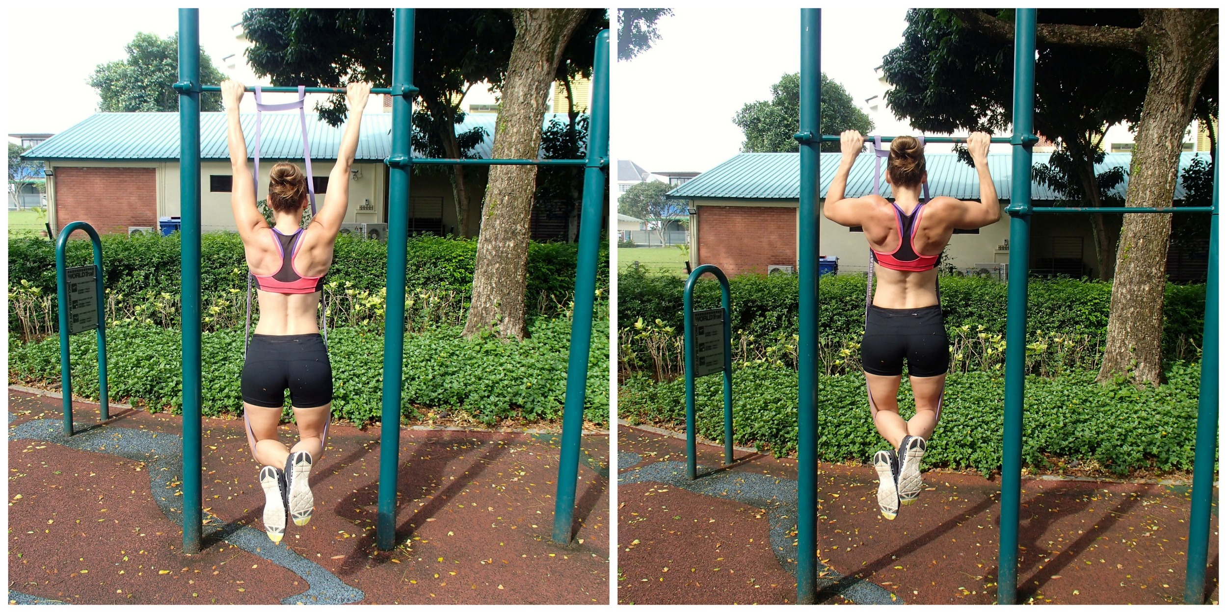 Use a rubber band specifically made for pull-up training to help you advance toward the big goal... the UNASSISTED REAL DEAL PULL-UP!!!