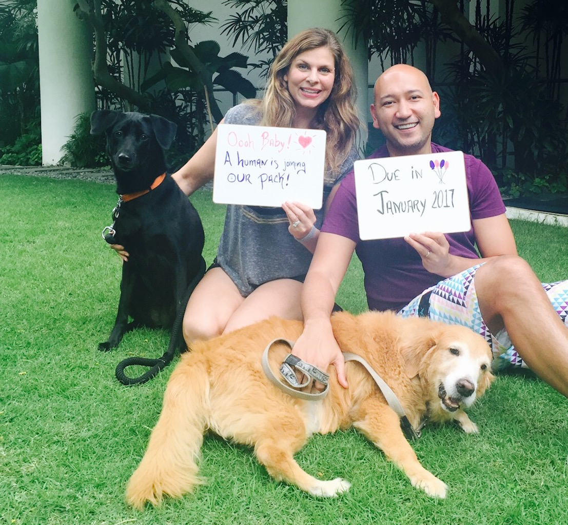 Yes, it's finally hit us- we're going to be parents!!!