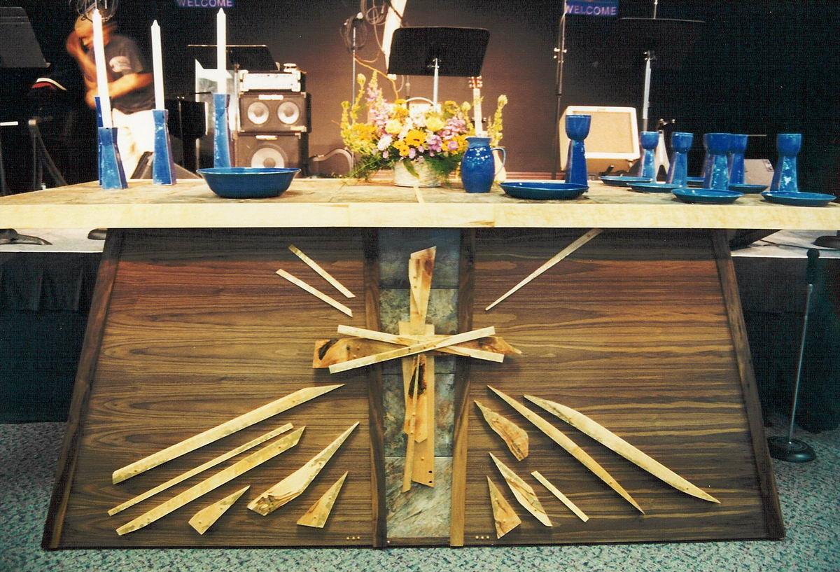 Altar with Communion Set