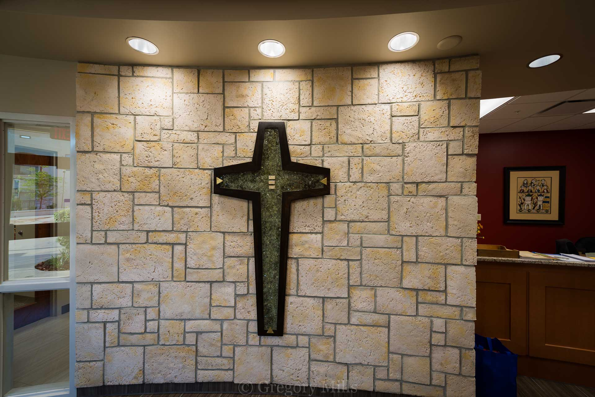 Cross Installed in Administration Offices