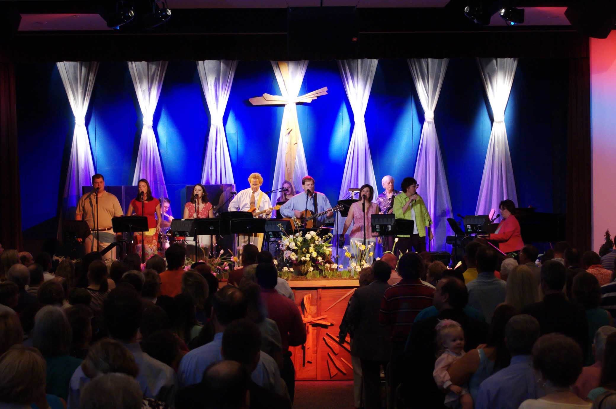 Worship Service During Easter
