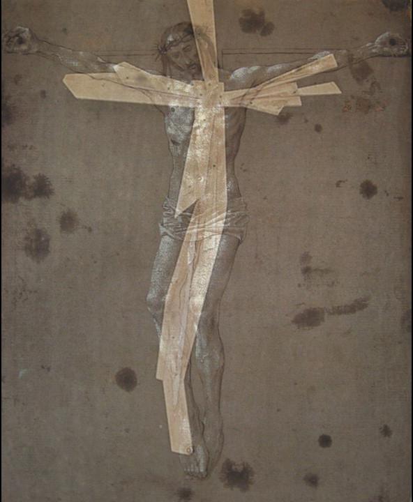 Hugo Van Der Goes Drawing Superimposed on Cross