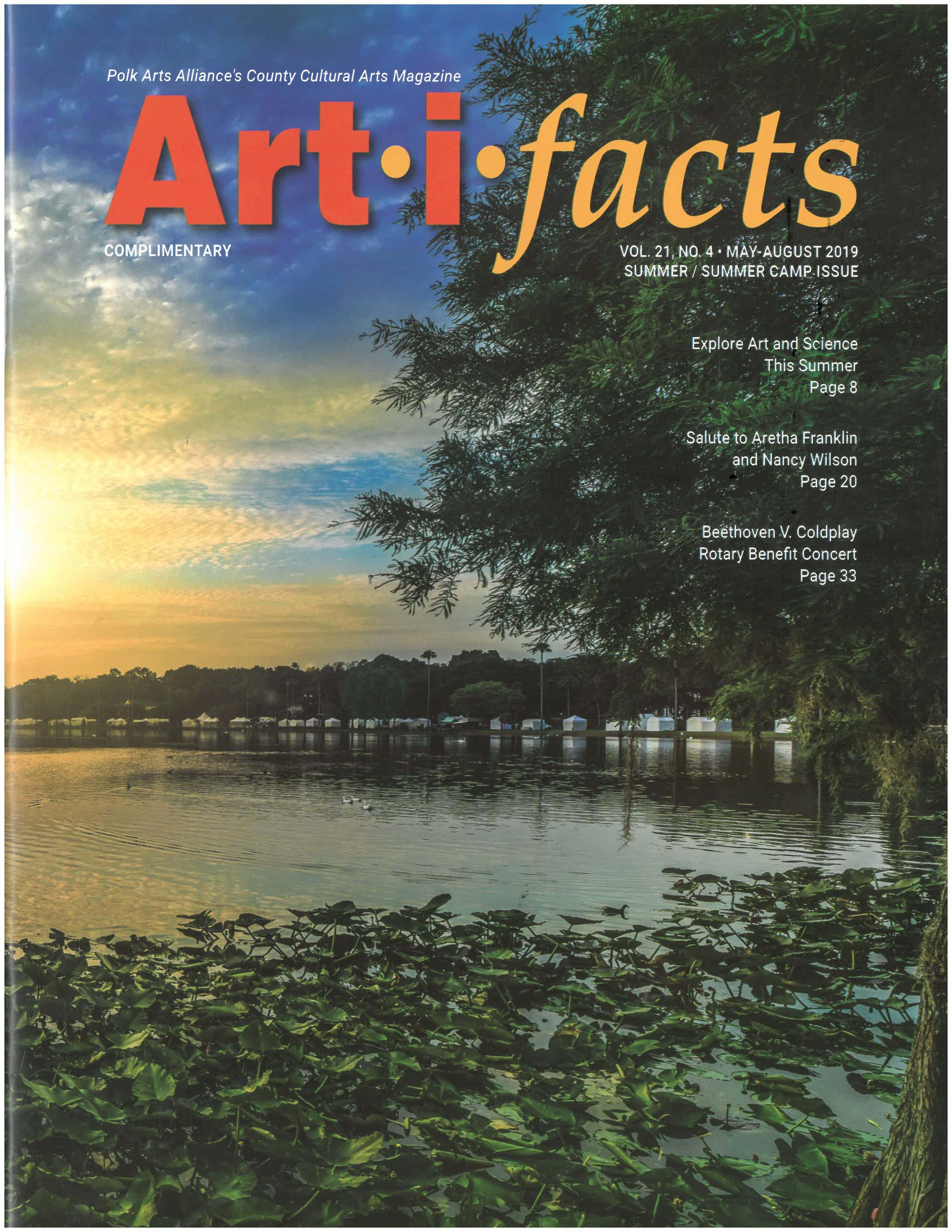 Art-I-Facts Magazine Cover Photo May 2019 by Gregory Mills