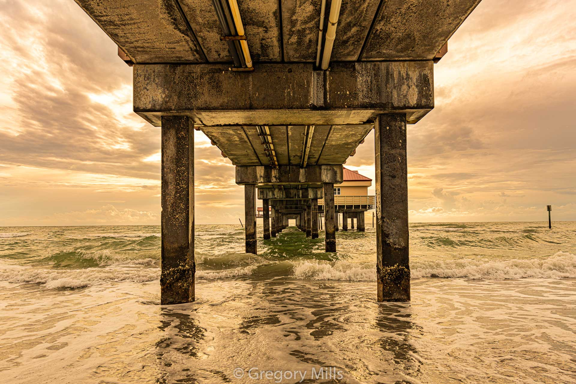 Under Pier 60 at Clearwater Beach. Yes I am in the water with my camera on a tripod!