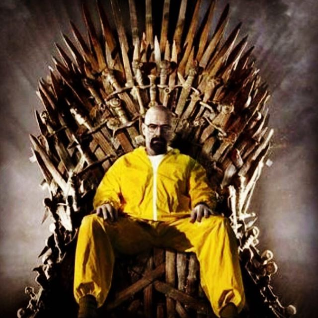 After all is said and done in SeriesLand, #WalterWhite #BreakingBad still sits on the throne. #GameOfThones #GameOfThonesFinale 