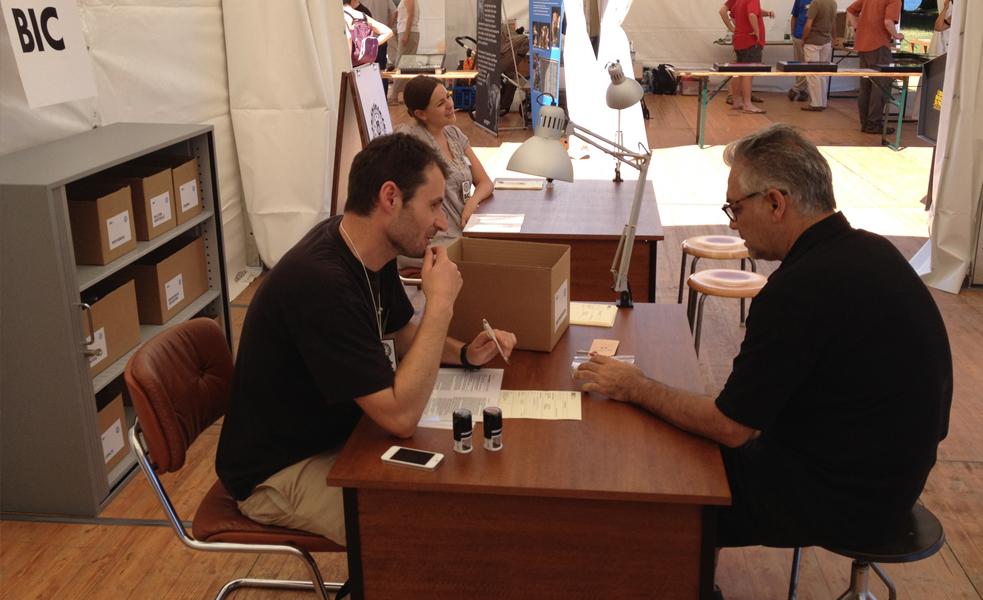 NUIT DE LA SCIENCE - STAND RRSC  Bureau International des Catastrophes (BIC) , Genève, juillet 2012