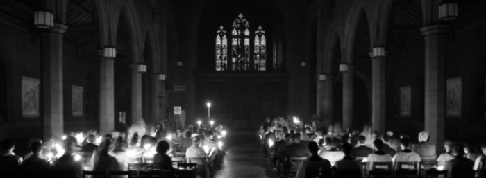 The evening of the Easter Vigil (click for more images of worship at Christ Church)