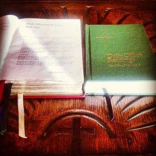 Preparing to lead prayer...