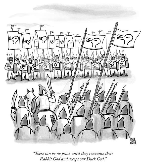 A great cartoon from  Paul Noth , riffing off Wittgenstein's duck-rabbit.
