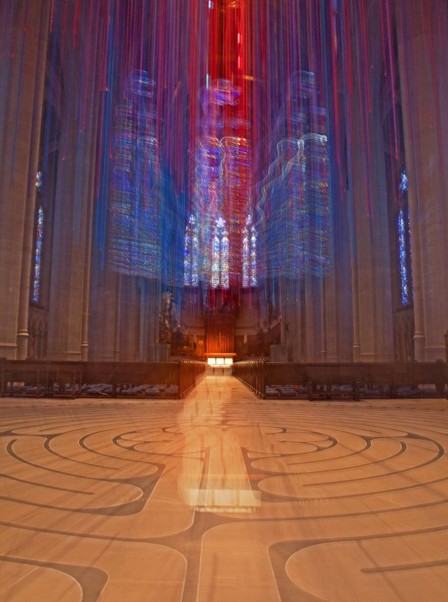The labyrinth at Grace Cathedral, San Francisco.  Source:  Allesandro Actis .