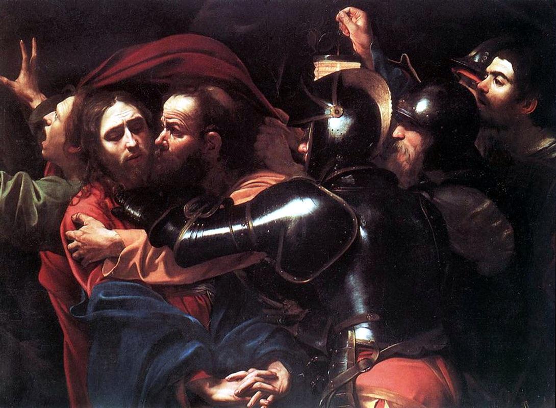 Judas' betrayal of Christ.