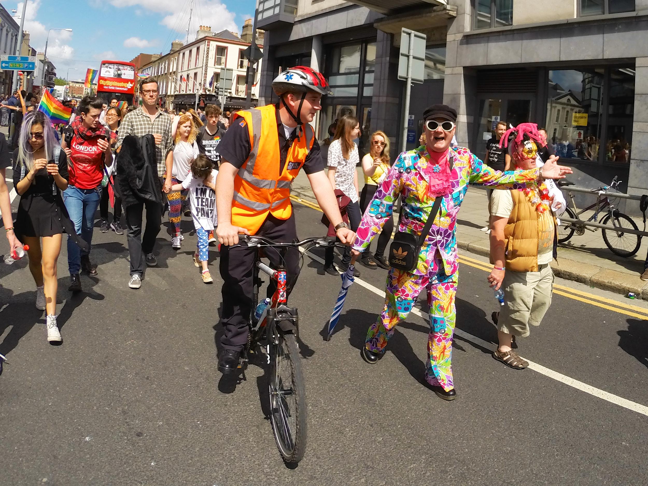 Medical Bikes at the Dublin Pride festival 2014