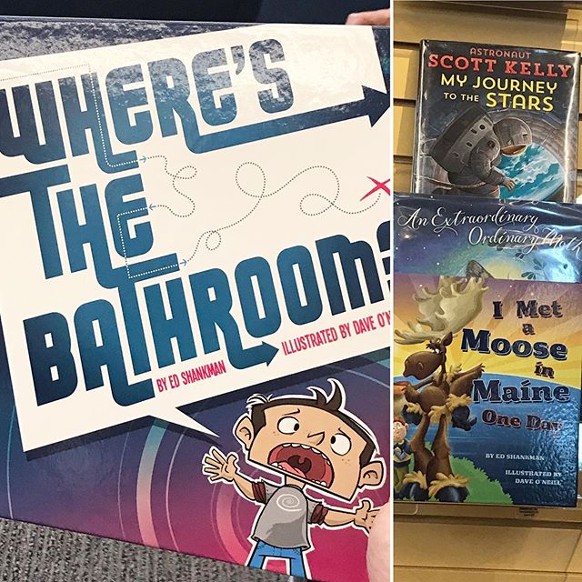 Getting ready to read at @saugatuckstoryfest here at the beautiful @westportlibrary! #kidlitart #childrensbooks #wheresthebathroombook
