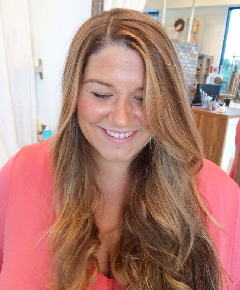 balayage highlights with hair painting