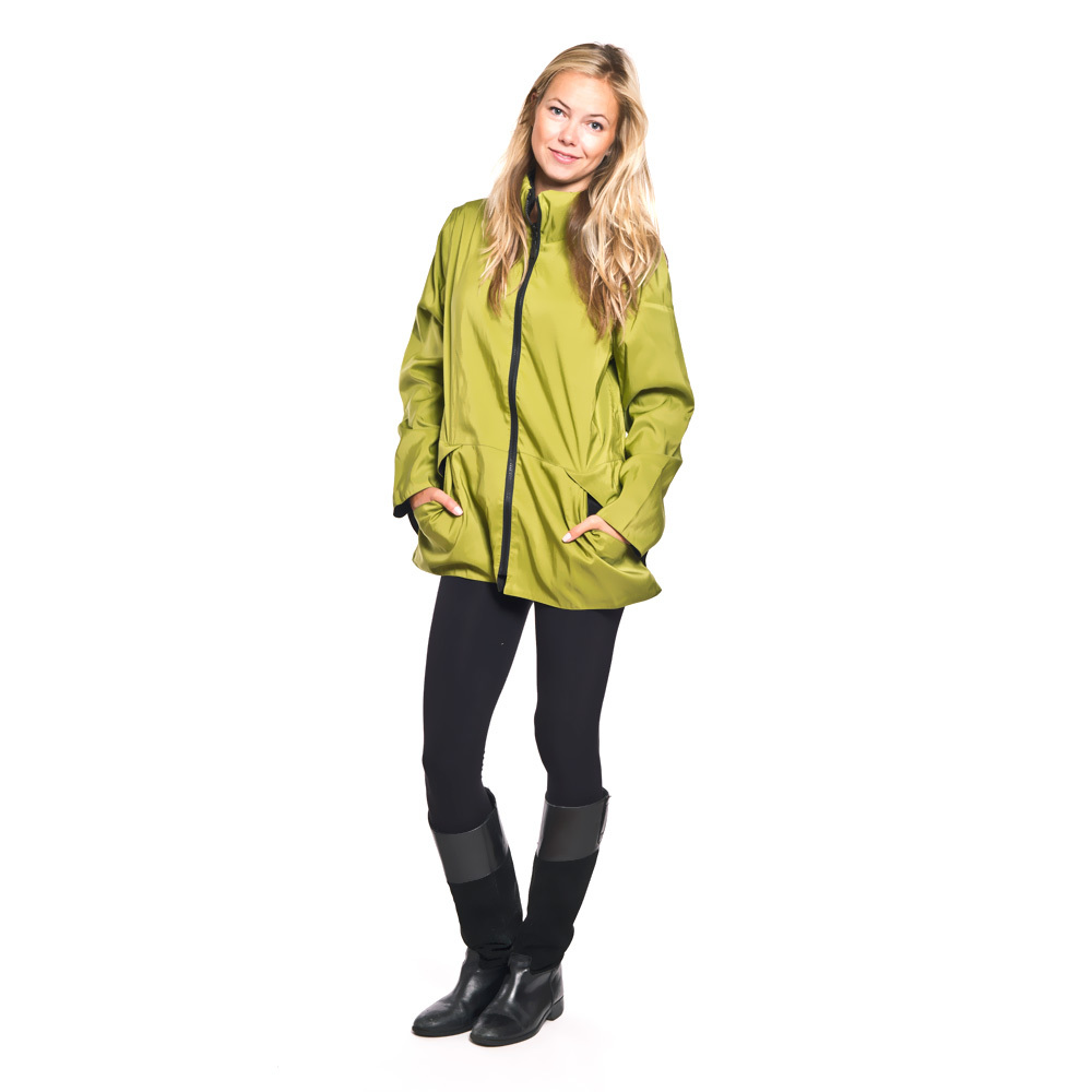 Mycra Pac green jacket ships to Australia, New Zealand with International Priority Mail