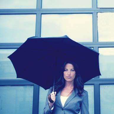 Woman Holding Shedrain Umbrella