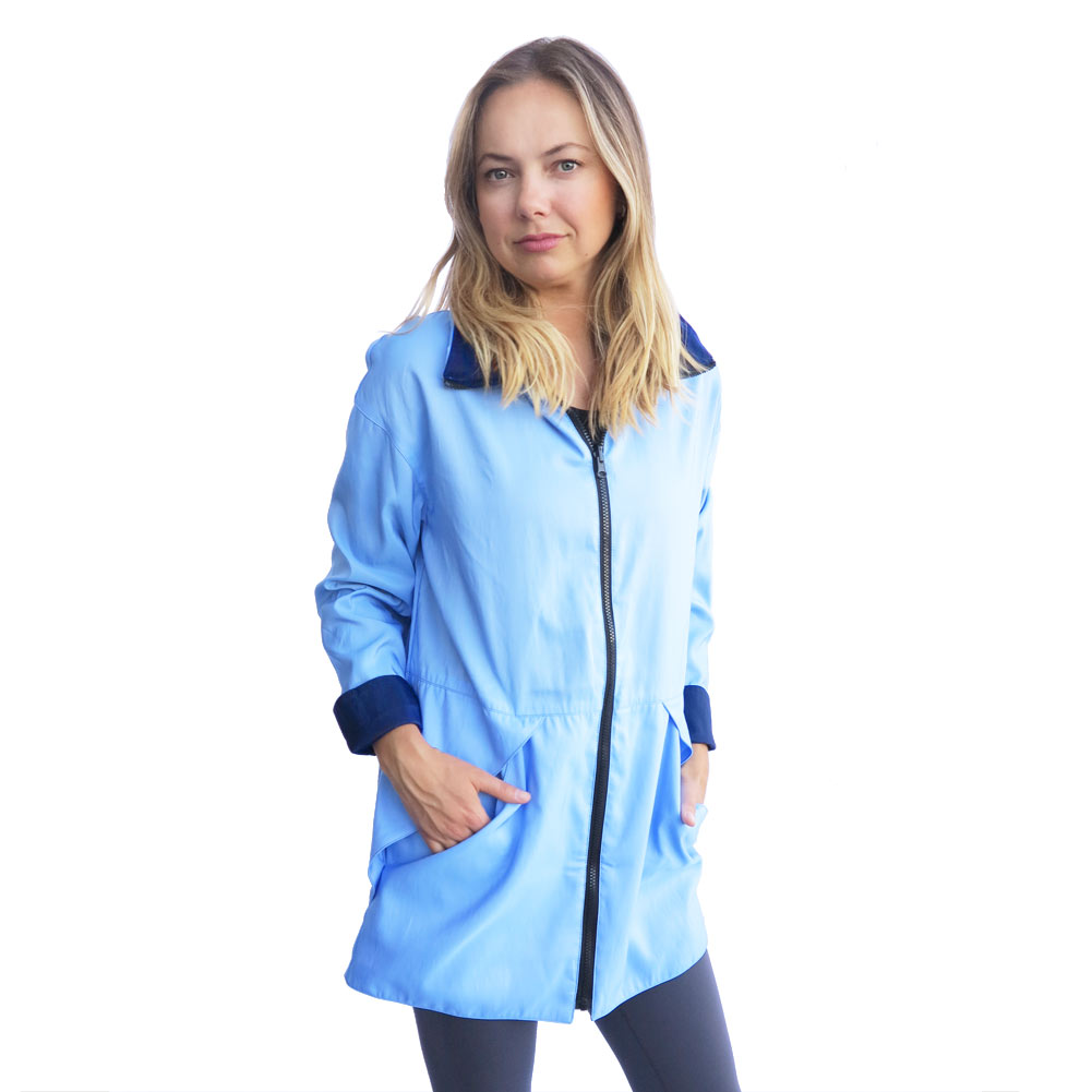 Shop Mycra Pac BFF Jacket in Baby Blue