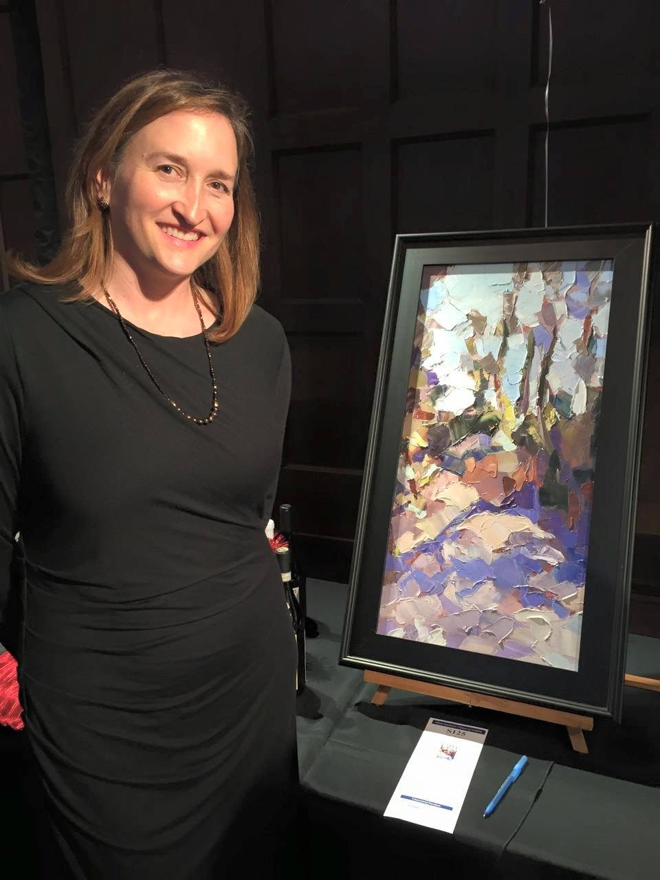 Here with  Windy Violet , which was included in the silent auction