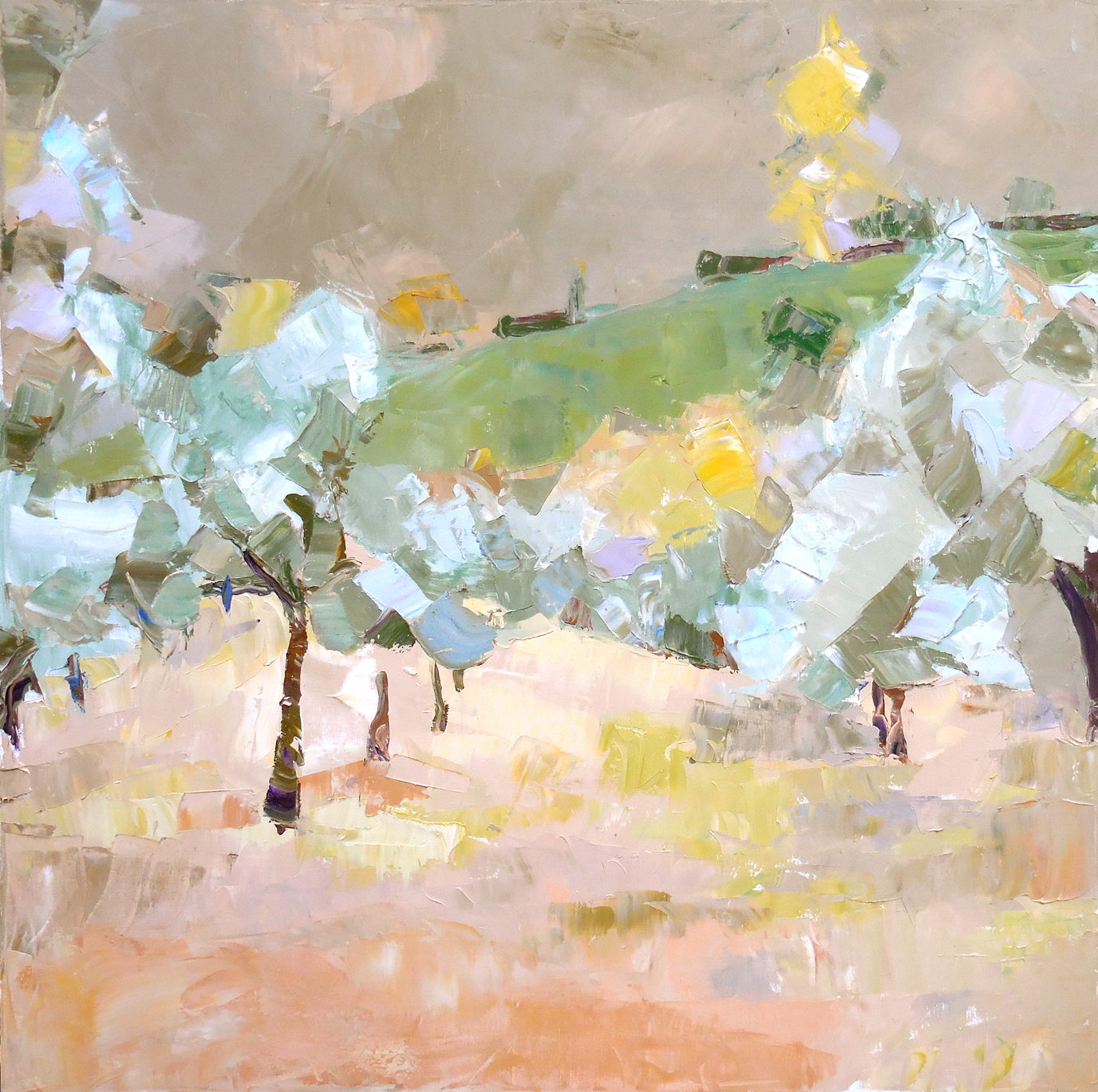 "Olive Grove,  2015 Oil, 30"" x 30""  Sold"