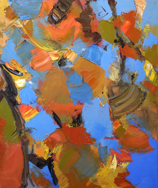 """Dogwood,  2015 Oil, 19"""" x 16"""" Available"""