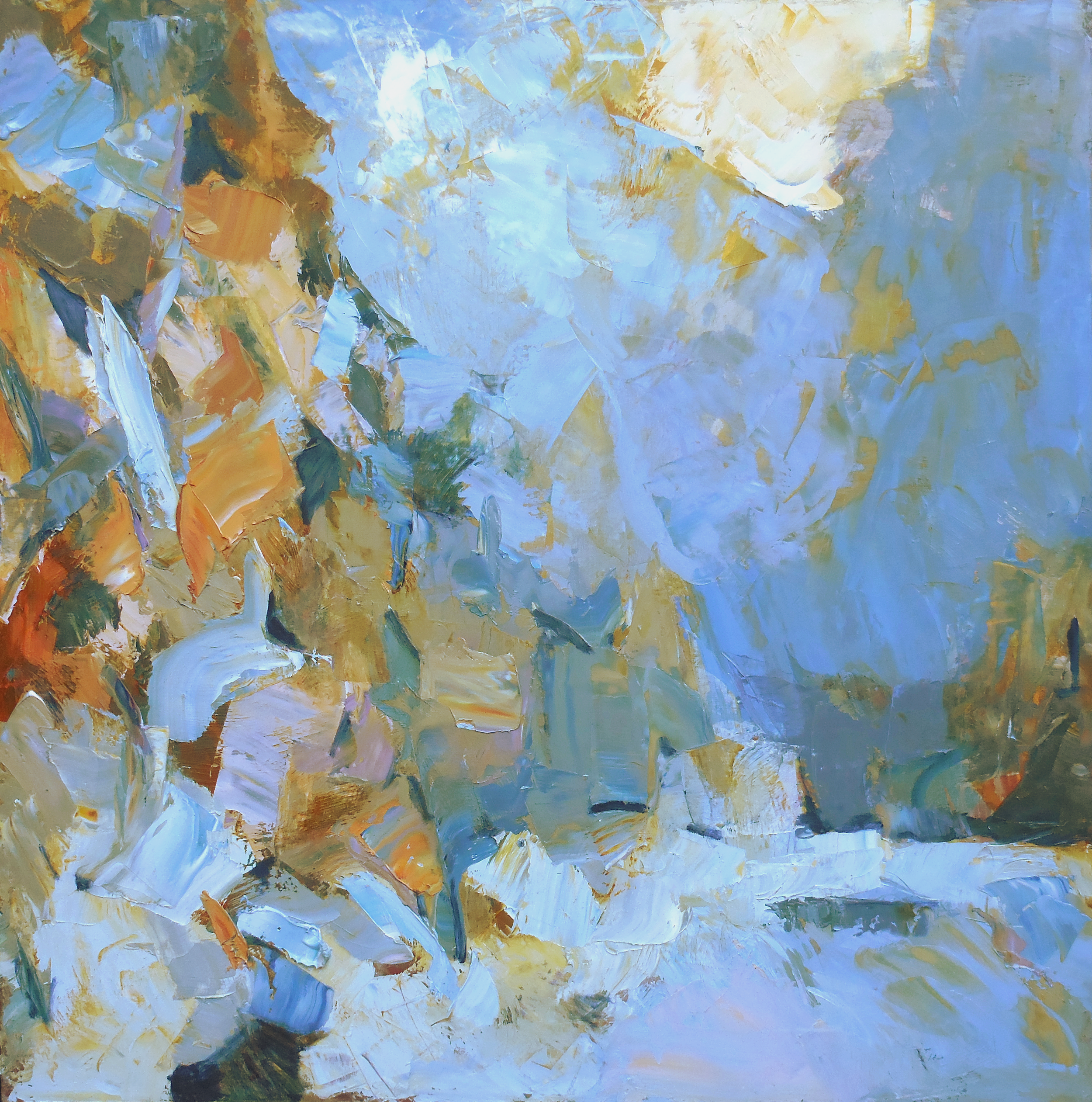 "Snoqualmie , 2015 Oil on canvas, 30"" x 30"" Sold"