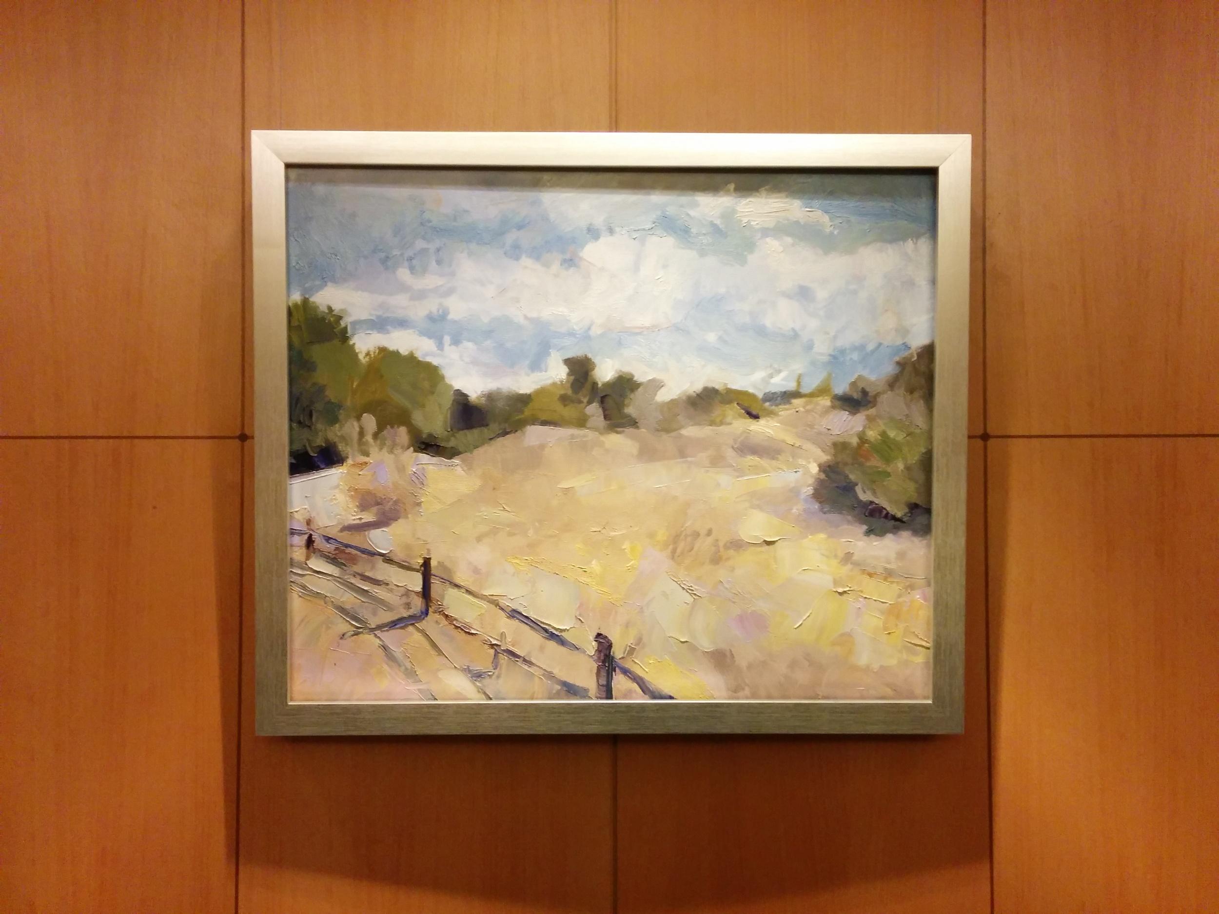 Julie Devine,  Palm Desert Field , 2015, oil on canvas