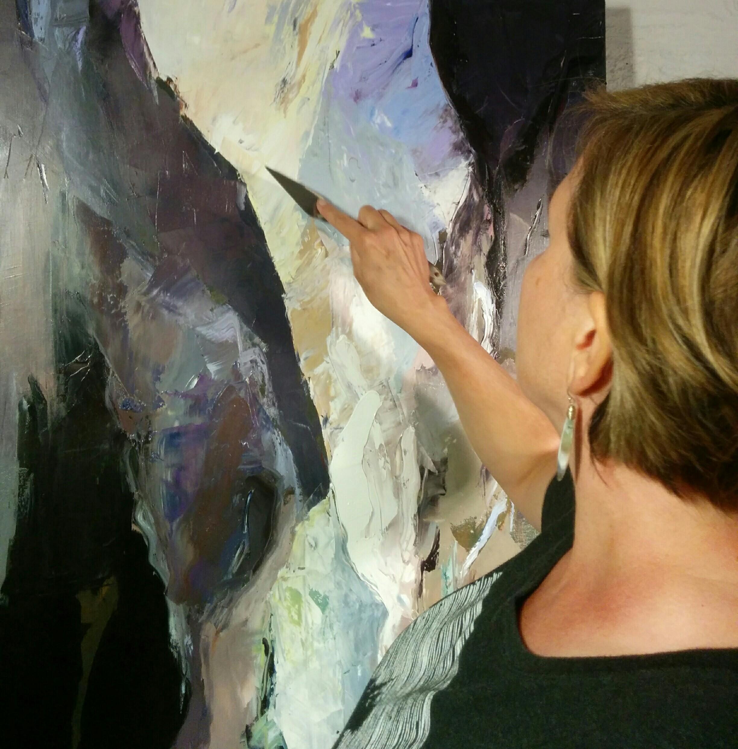 Working on  Crevasse , 2017