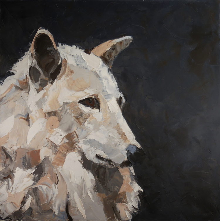 """Iskra,  2016 Oil on canvas, 30 x 30"""" Sold"""