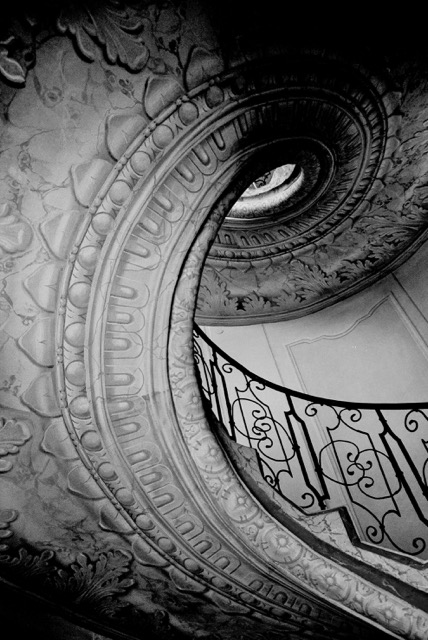 Spiral staircase in Melk, Austria