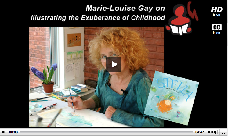 Marie-Louise Gay shows the storyboards and dummies that are part of her book-making process, explains how her illustrations and words work together to tell a story, and shares the importance of her readers identifying with her books' characters.